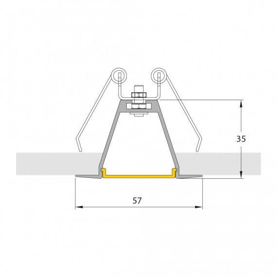 perfil de led embutido Mister led SLED9004N