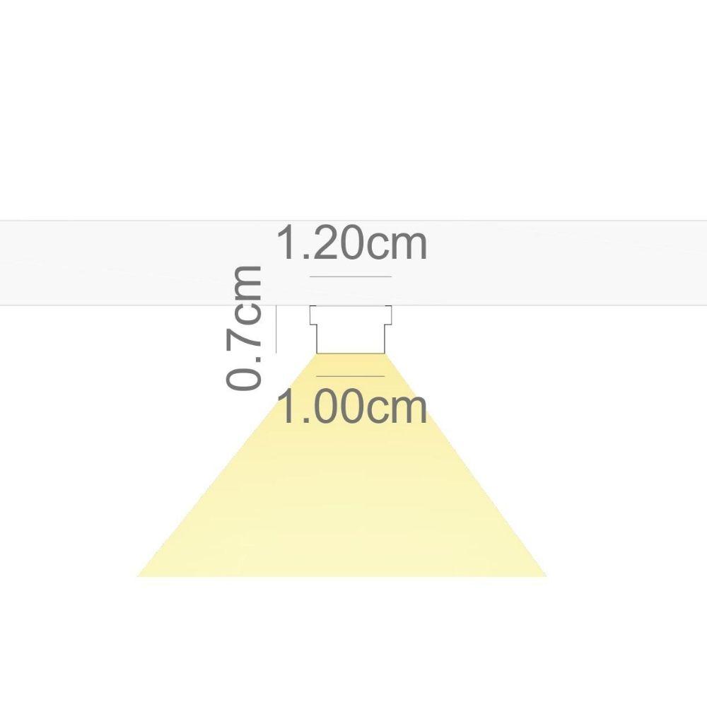 Perfil de Led FACCIATA sobrepor na marcenaria  / 19W/m / corpo e difusor de acrílico ILT0462