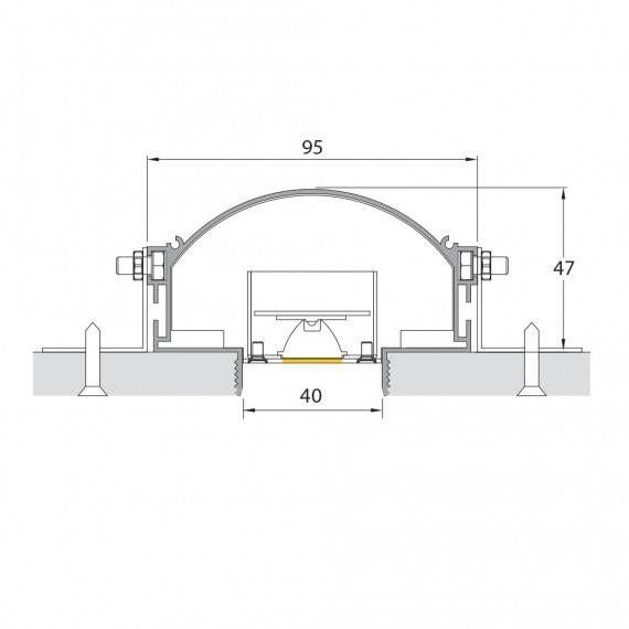 perfil de led modulo concentrado S40 Mister led SLED9008ML