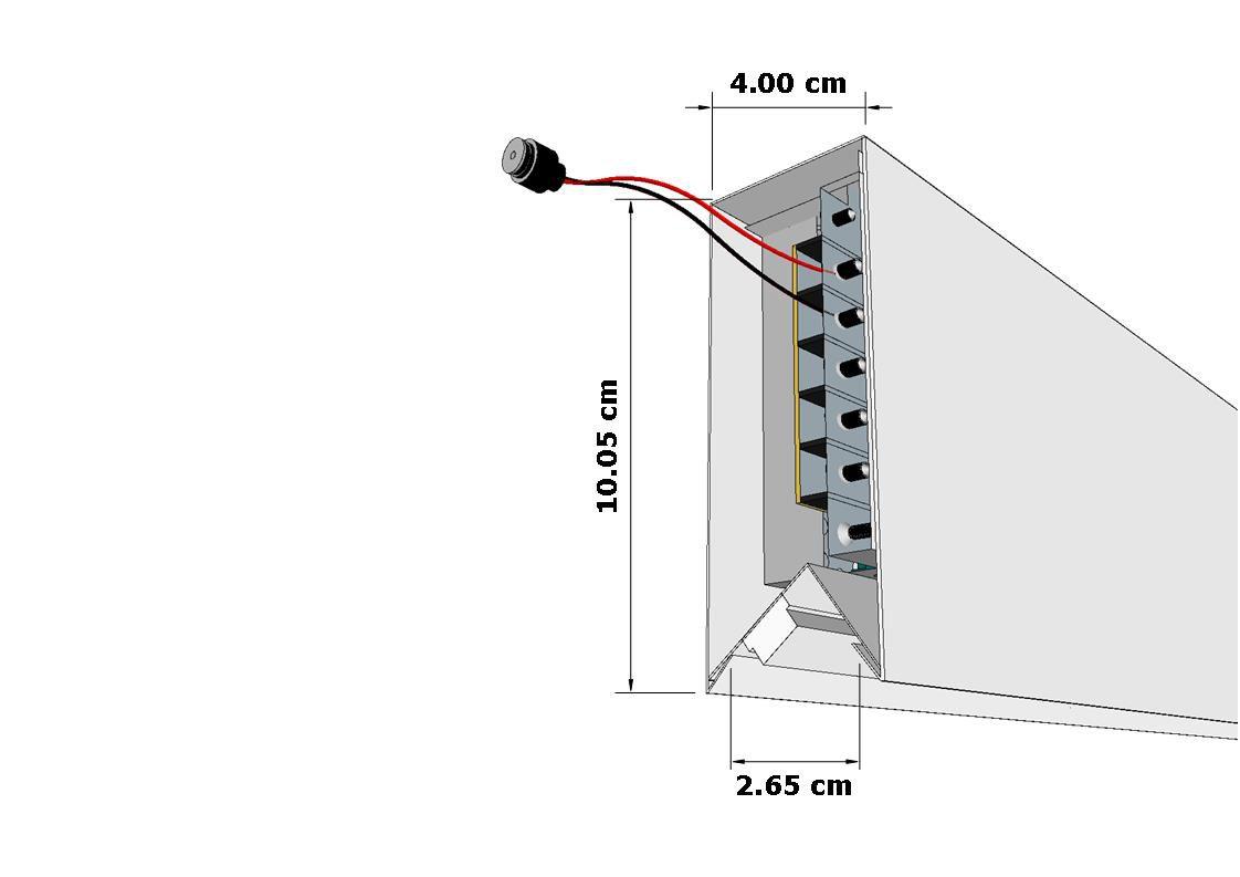 perfil de led PADIGLIONE sobreposto ilunato ILT0540