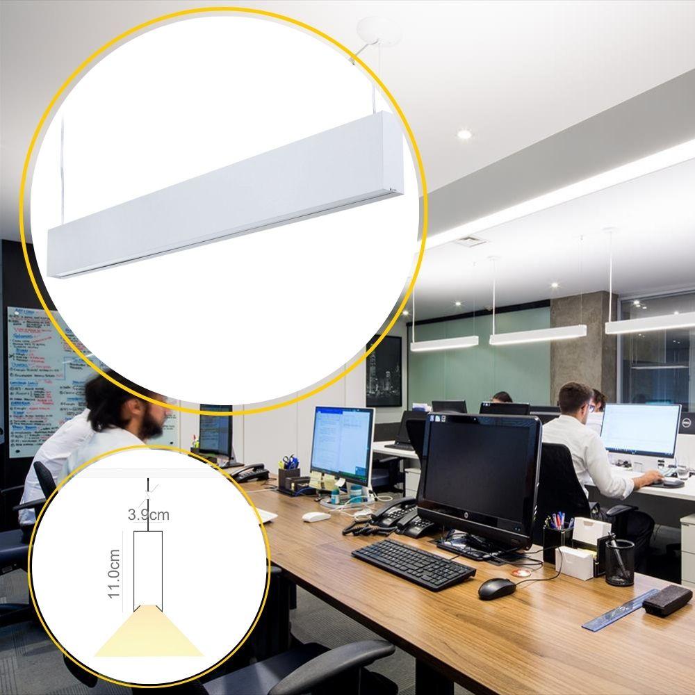 Perfil de Led Teto Profilo Pendente 19W/m ou 38W/m RGBCCT Automação  Ilunato - ILT0700