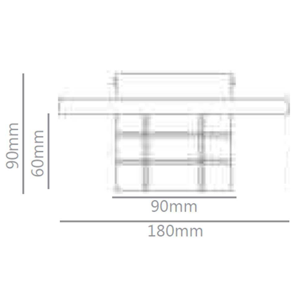 plafon ARQLINE 1xbipino preto Stella SD7510