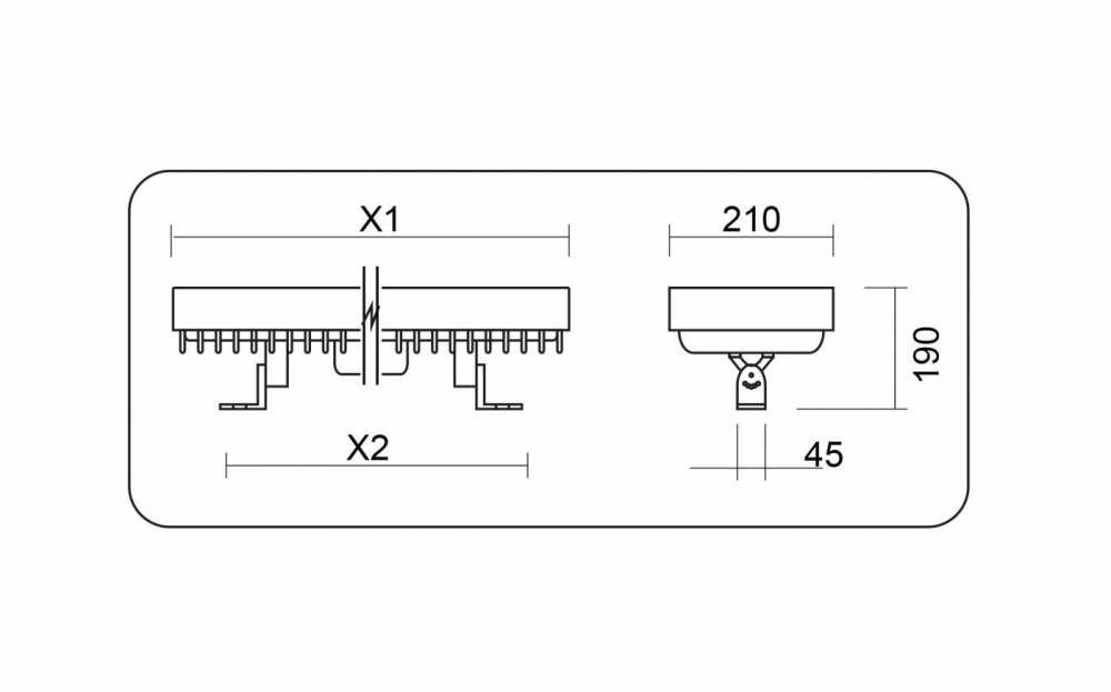 Projetor Inject Power led 120w quente Power Lume PSK120W