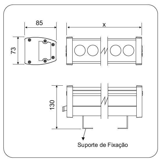 Projetor Linear led 45w quente  Power Lume PL45W