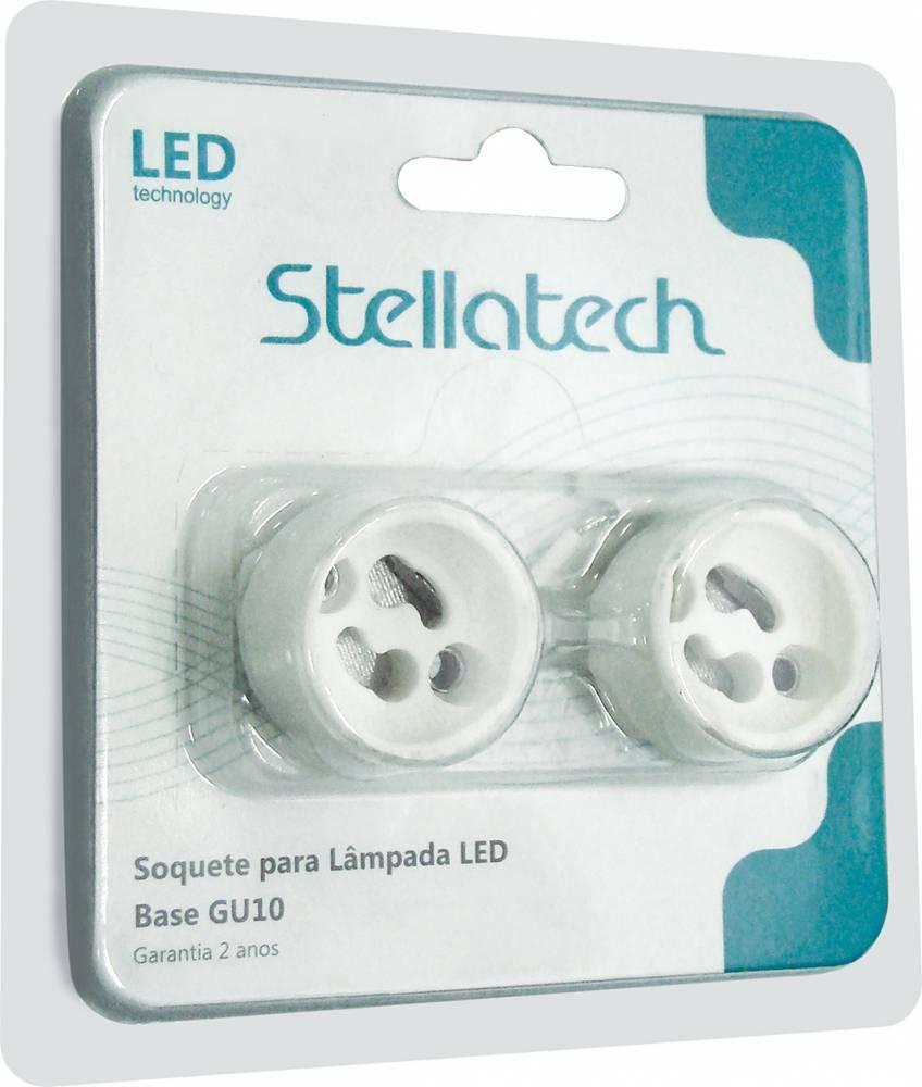 SOQUETE P/LAMP LED BASE GU10 BLISTER C/ 2 UN. STH5599