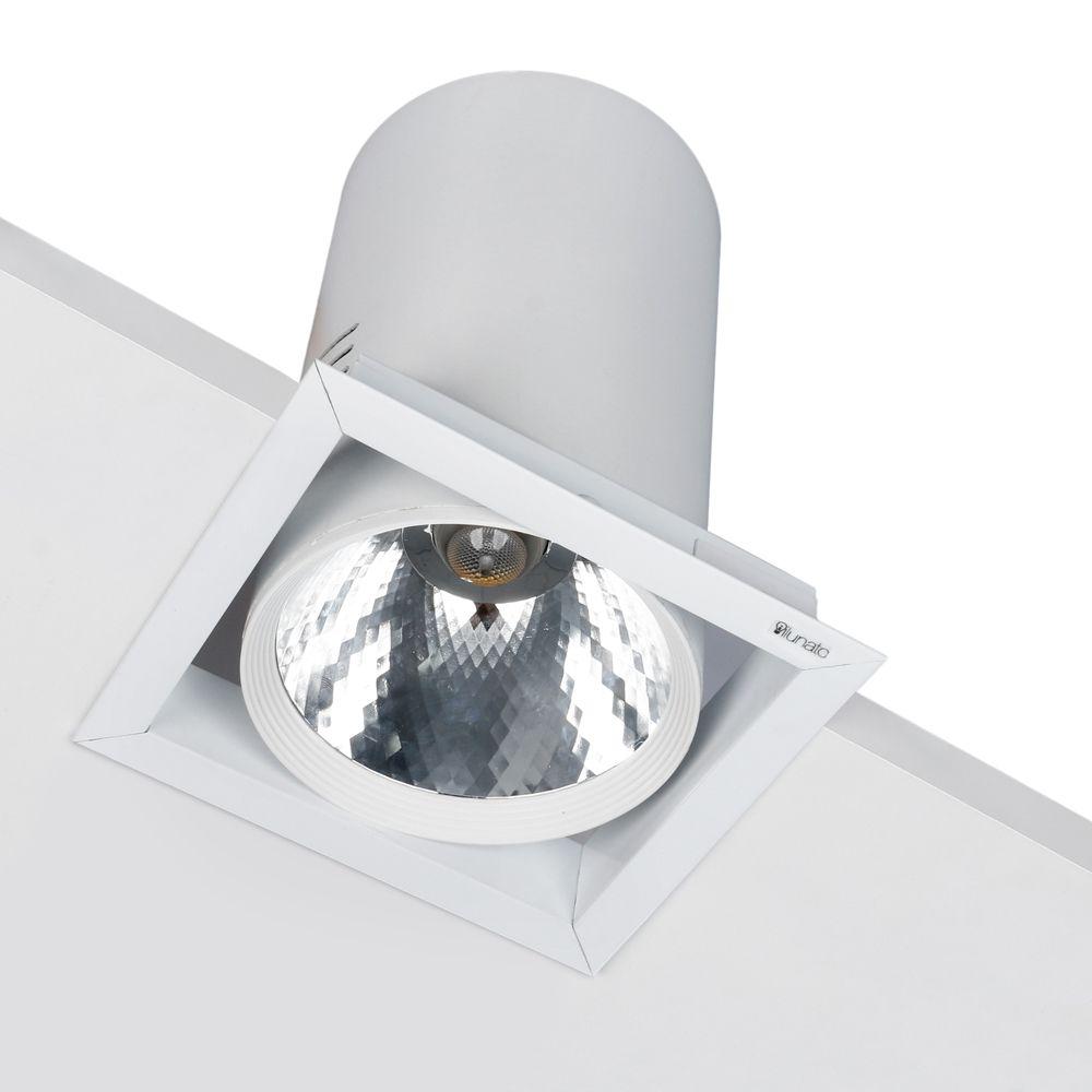 spot COMMERCIALE 1X ON-OFF 30W 27/30/40/60K embutido orientável quadrado ilunato ILT1163