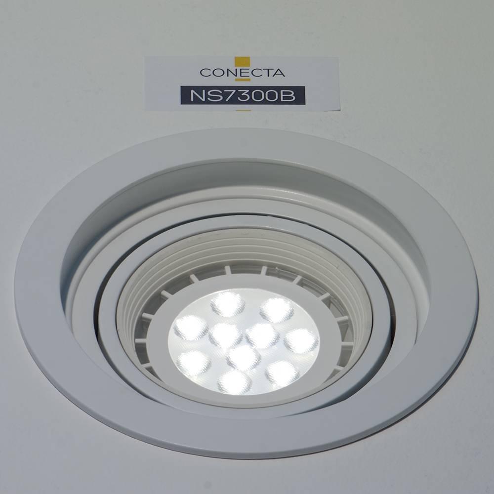 SPOT DE EMBUTIR CONECTA BRANCO (D)18CM (A)6CM  1XE27 PAR30