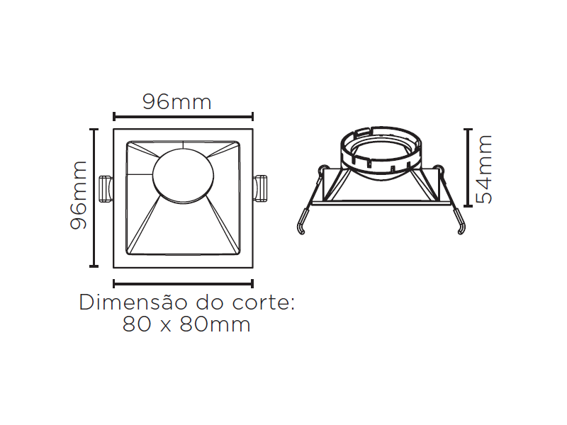 EMBUTIDO ANGULAR 25° SQUARE ANGLE MR16 STH8970BR