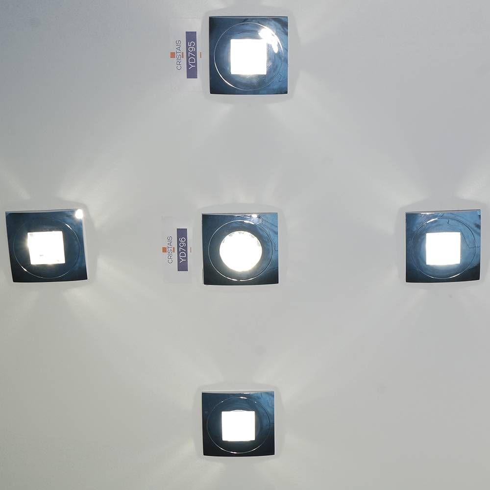 SPOT EMBUTIDO SHINE 8,4CMX8,4CM CRISTAIS 1XDICROIC