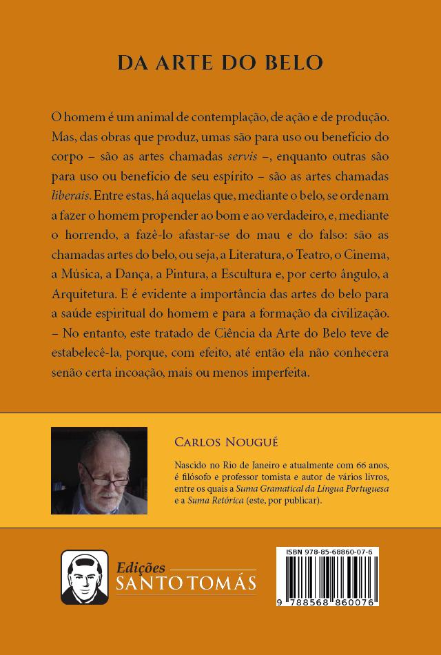 Da Arte do Belo 1ª edição