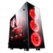 Gabinete Gamer Redragon GC-601BK Sideswipe com 4 Cooler RGB