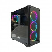 Gabinete Gamer Redragon Gc-606bk Wheel Jack S/Fonte