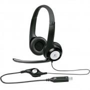 Headset Usb Logitech H390 Preto Com Controle De Volume