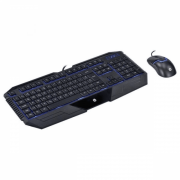 Kit Teclado e Mouse Gamer HP GK1100 Black