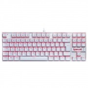 Teclado Mecânico Redragon Kumara Branco K552W-SINGLE Switch RED