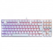 Teclado Mecanico Redragon Kumara Branco RGB Switch Brown K552W-RGB
