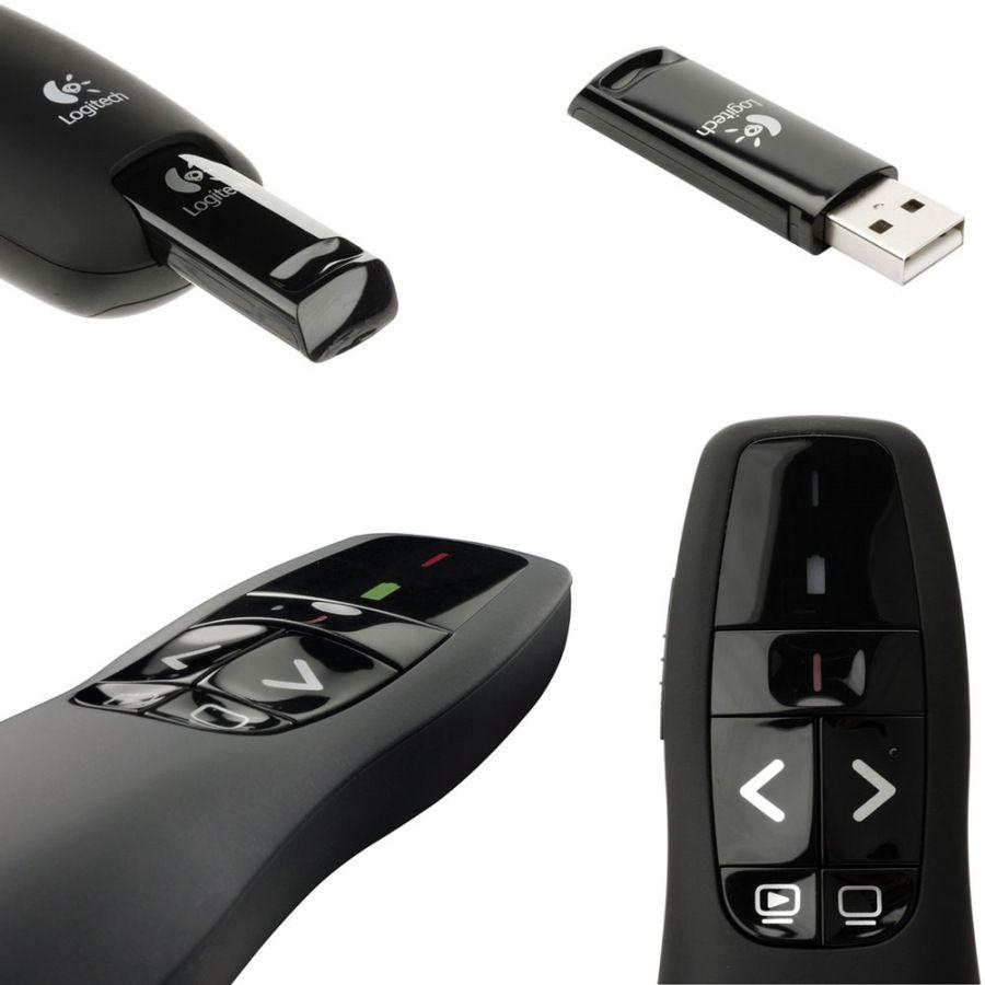 Apresentador Logitech Wireless Presenter R400 Laser Point