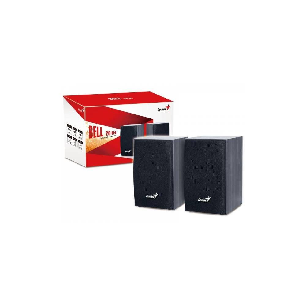 Caixa De Som 2.0 Ch Genius Sp-hf160 Madeira cor Preta