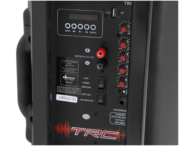 Caixa de Som Amplificada TRC 436  Bluethooth 350W