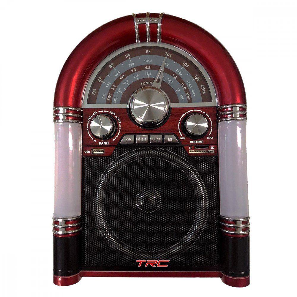 Caixa de Som Portátil TRC 210 Retrô Bluethooth 35W