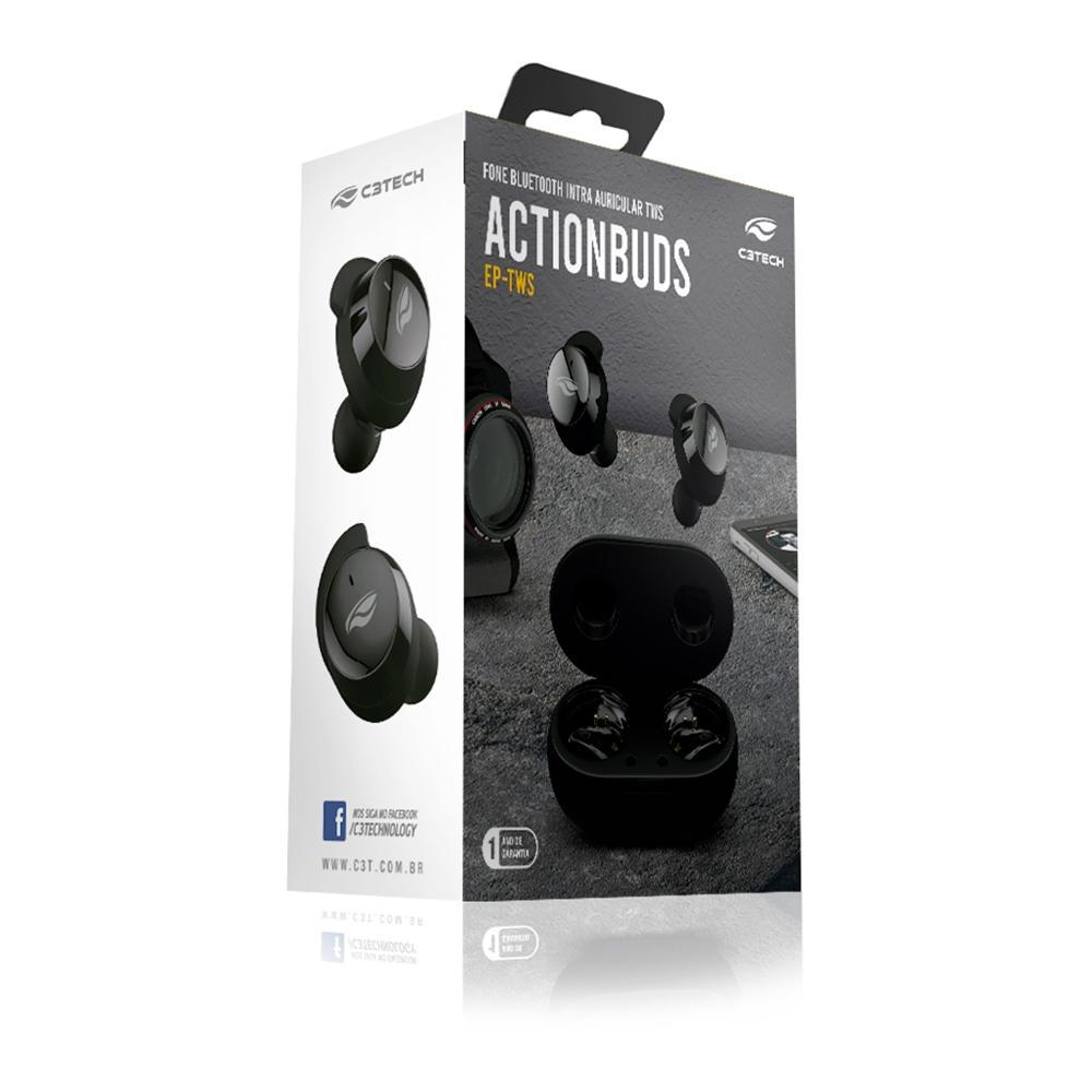 Fone Bluethooth Actionbuds C3TECH BT 5TWS EP-TWS-200BK