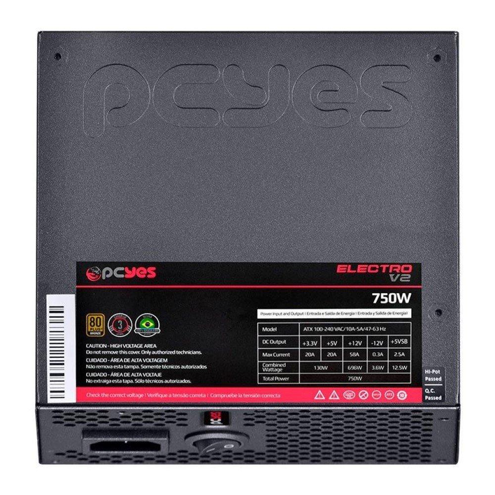 Fonte ATX 750W Electro V2 Series