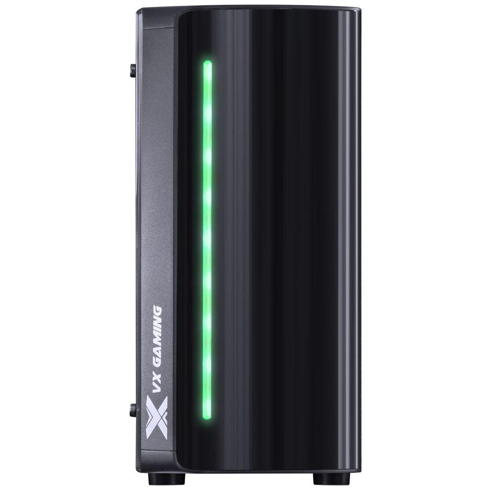 GABINETE MIDTOWER VX GAMING SPECTRUM PRETO, LED RGB 7 CORES - SP7LAF
