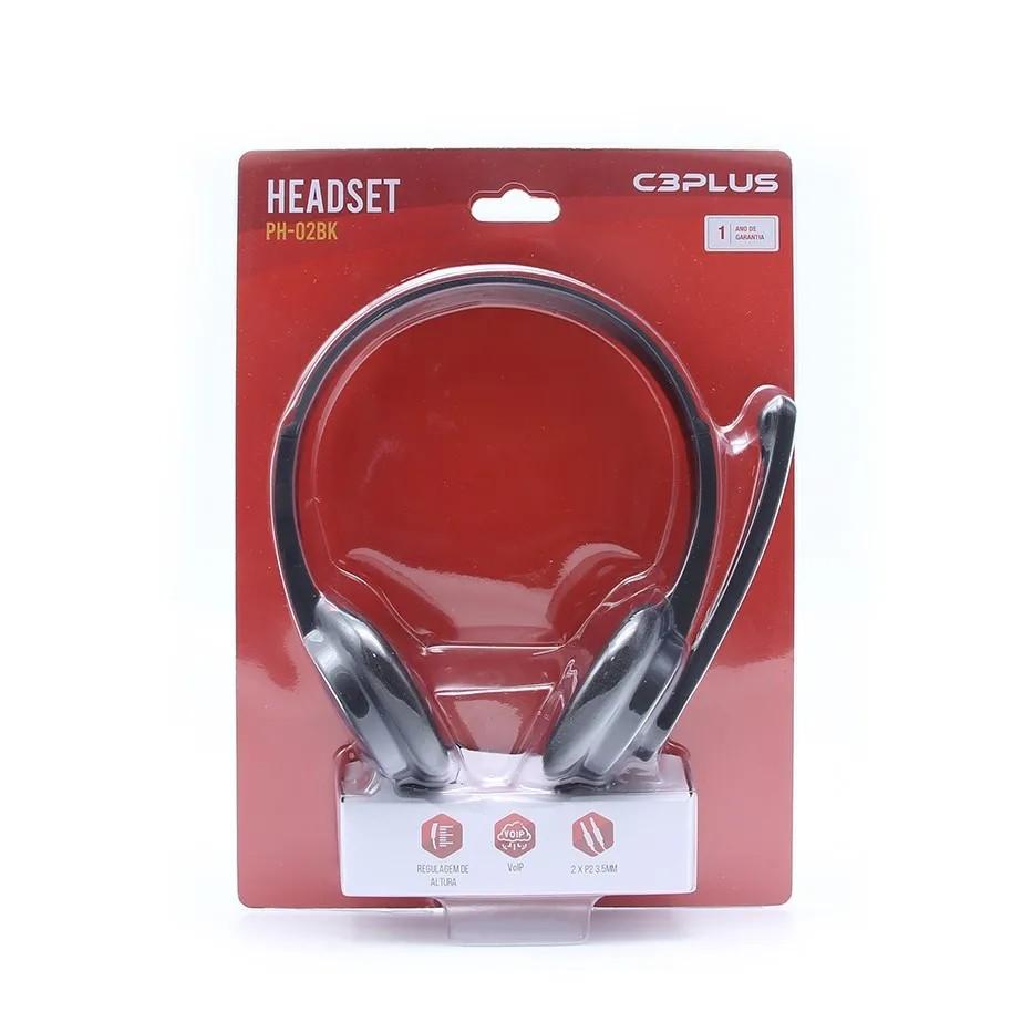 Headset C3Tech PH-02BK Conexão P2