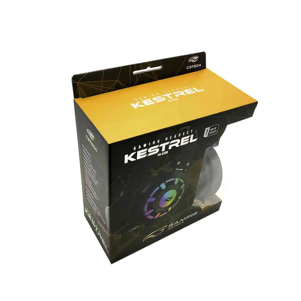 Headset Gamer Kestrel PH-G720BK Preto C3Tech