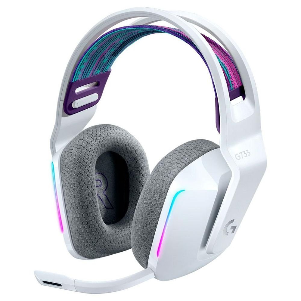 Headset Gamer Sem Fio Logitech G733 Branco RGB Lightsync