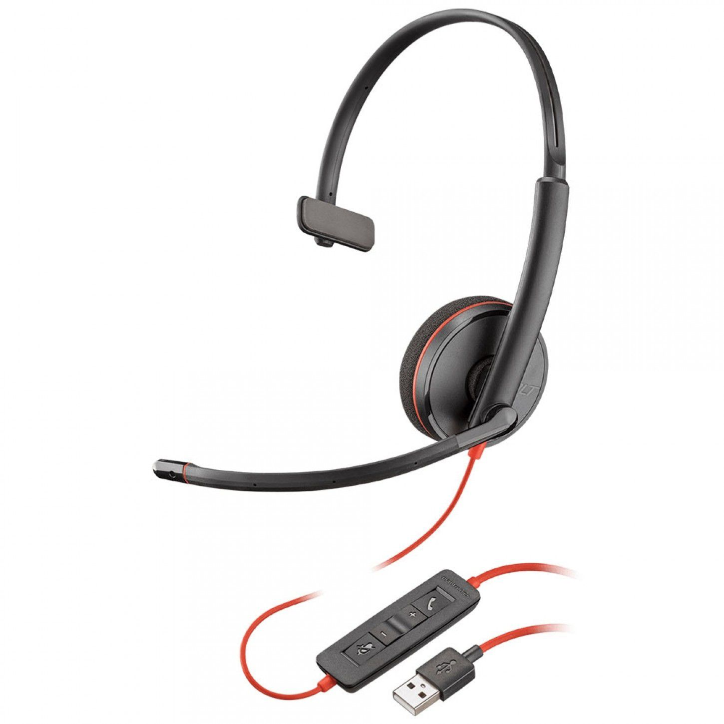 HEADSET USB - PLANTRONICS BLACKWIRE C3210