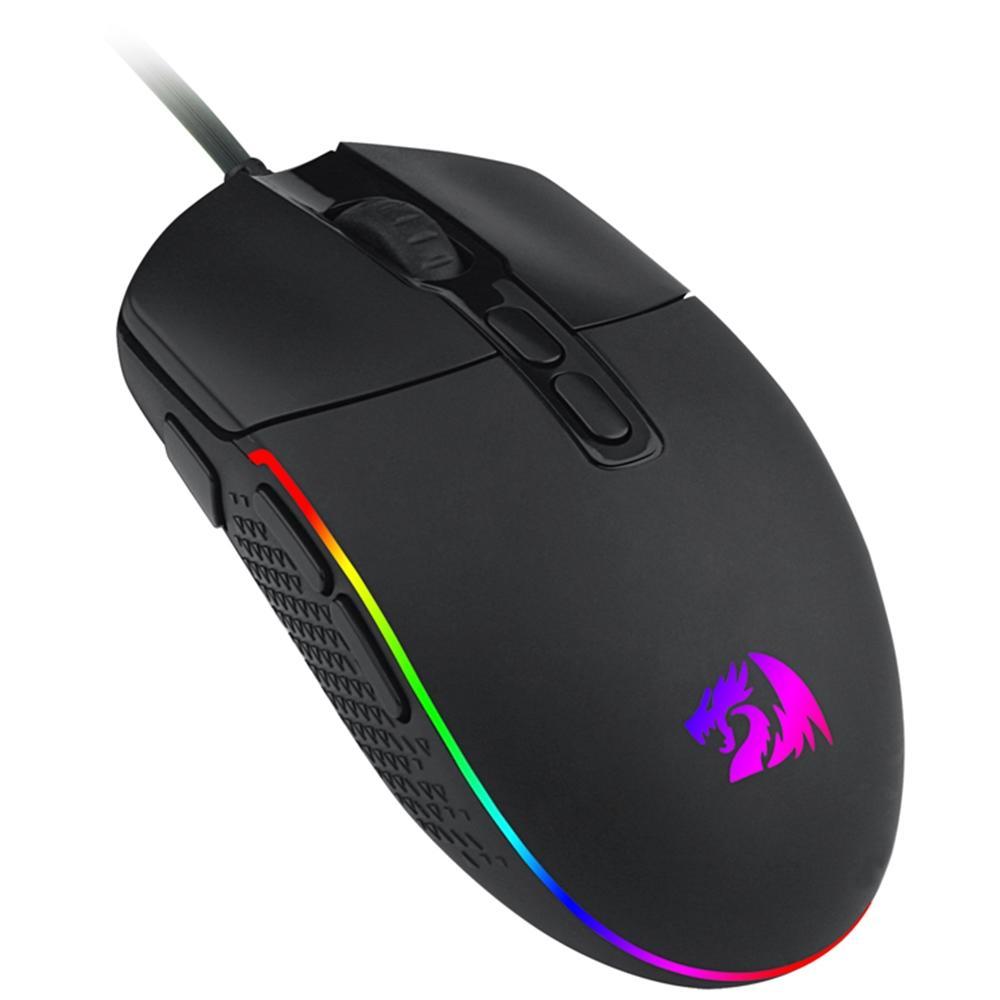 Mouse Gamer Redragon Invader M719 RGB 7 Botões 10000DPI