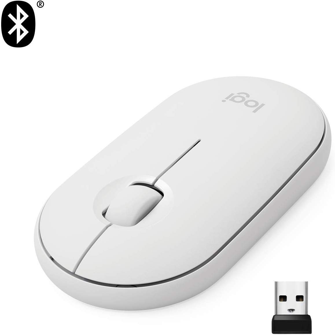Mouse Logitech Pebble M350 Branco