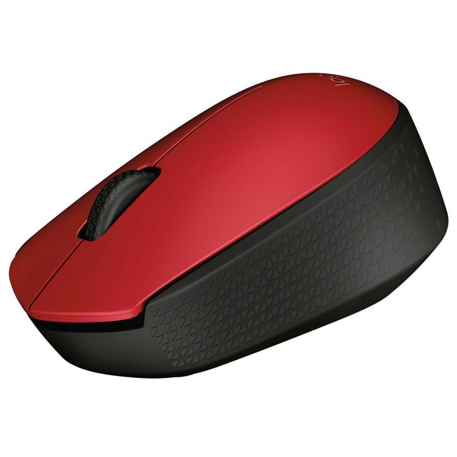 Mouse Logitech Sem Fio M170 Vermelho/preto