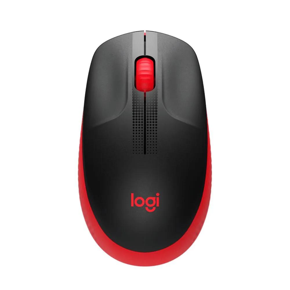 Mouse Logitech Sem Fio M190 Vermelho