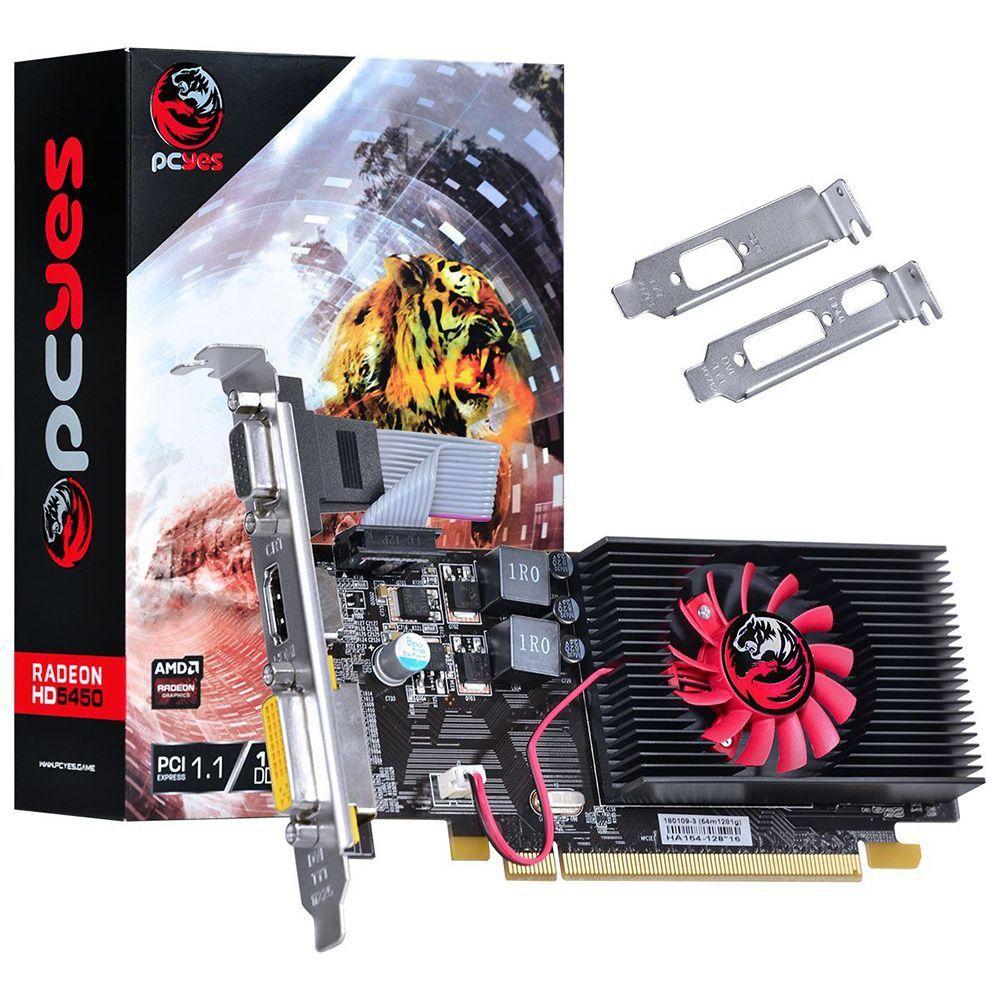 Placa de Video Radeon HD 5450 1GB DDR3 64 BITS Low Profile