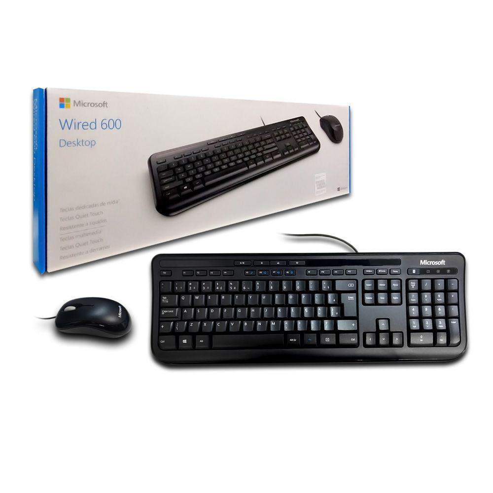 Kit Teclado E Mouse Desktop 600 Microsoft Modelo Apb00005