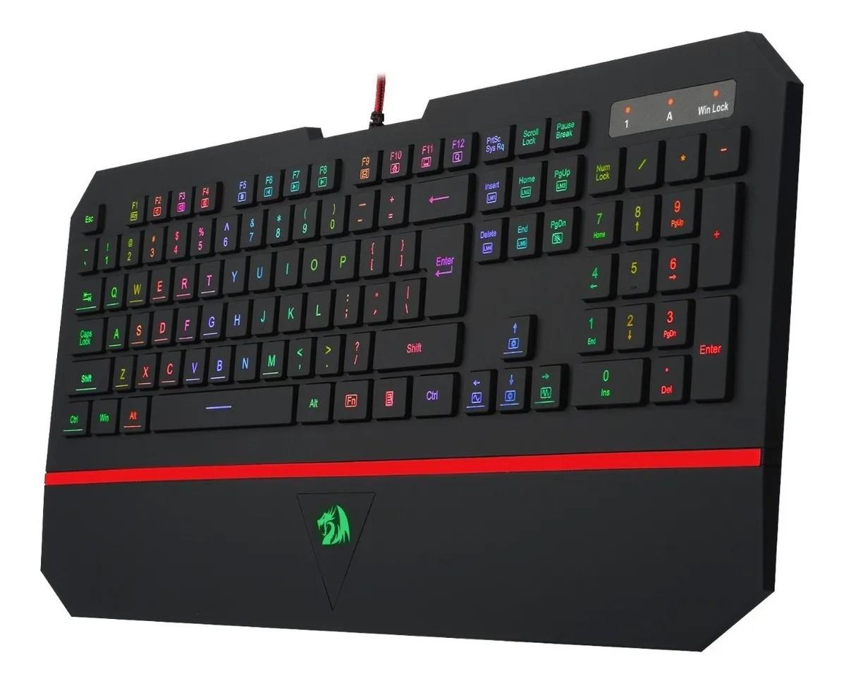 Teclado Gamer Redragon Karura 2 RGB K502 Membrana Ant-2