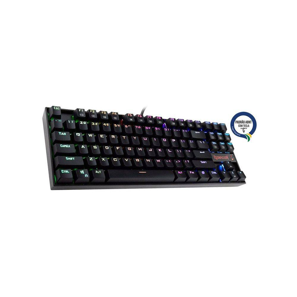 Teclado Mecanico Redragon Kumara Rgb Switch Brown K552rbg-1