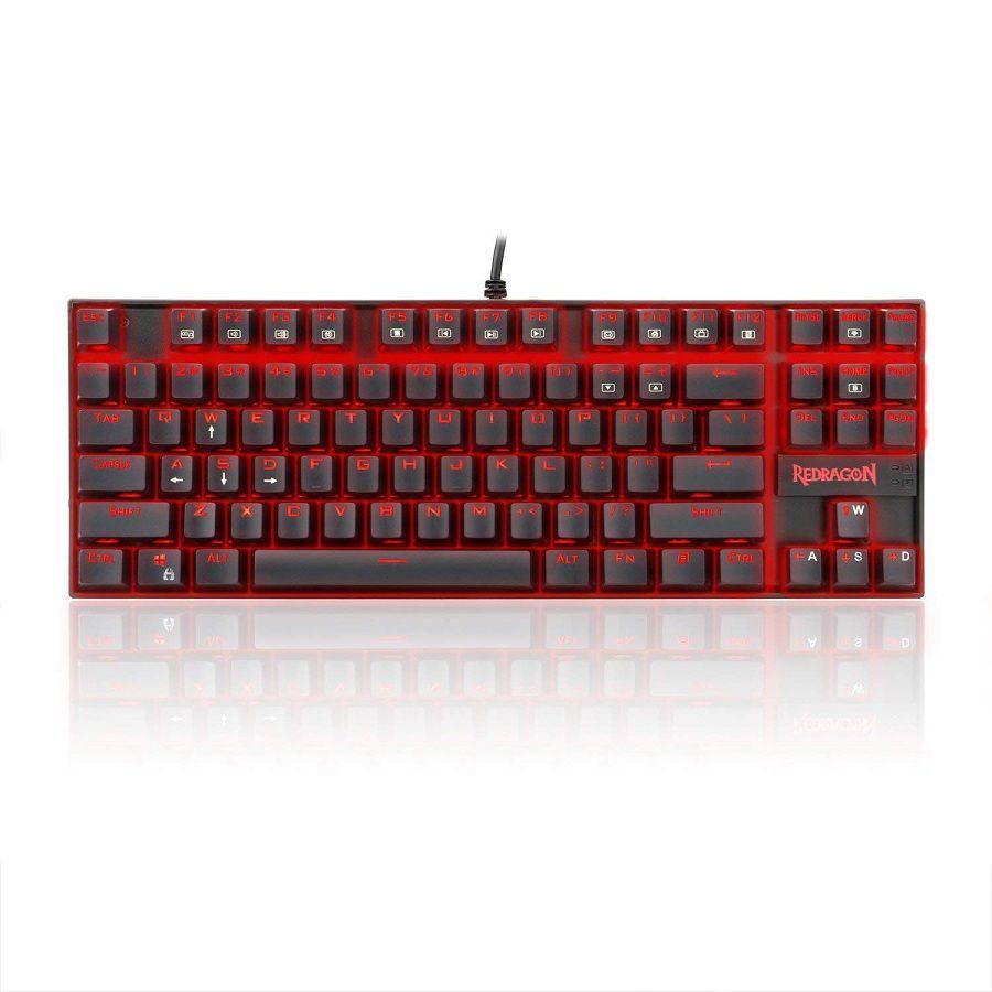 Teclado Redragon Kumara K552 Single Color Red Switch Brown