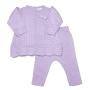 Conjunto Mini Vest Tricot Rendado