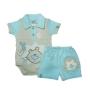 Conjunto para Bebê de Body Gola Polo e Short Leão