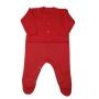 Conjunto para Bebê Tricot com Detalhes de Trança e Bolsinho no Casaco