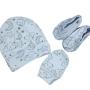 Kit para Bebê Touca Luva e Sapatinho Minimalista Lua Branca