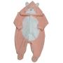 Macacão com Capuz  para Bebê Plush Ursa