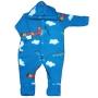 Macacão para Bebê com Capuz Soft Estampado Avião Azul