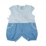 Macacão para Bebê Curto Tecido/Jeans