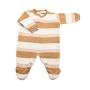 Macacão para Bebê em Tricot Listrado