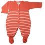 Macacão para Bebê em Tricot Listrado com Botões