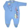 Macacão para Bebê Estampado Girafa Azul Claro